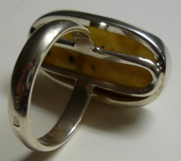 bernstein 925er silber ring wei er bernstein ring. Black Bedroom Furniture Sets. Home Design Ideas
